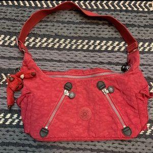 Kipling red shoulder purse
